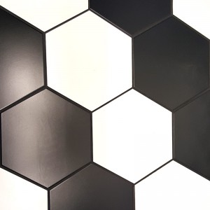 Black & White Hexagonal 258x290mm CEM11&12
