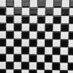 Glass Tile B&W Checker Pattern PMB3001